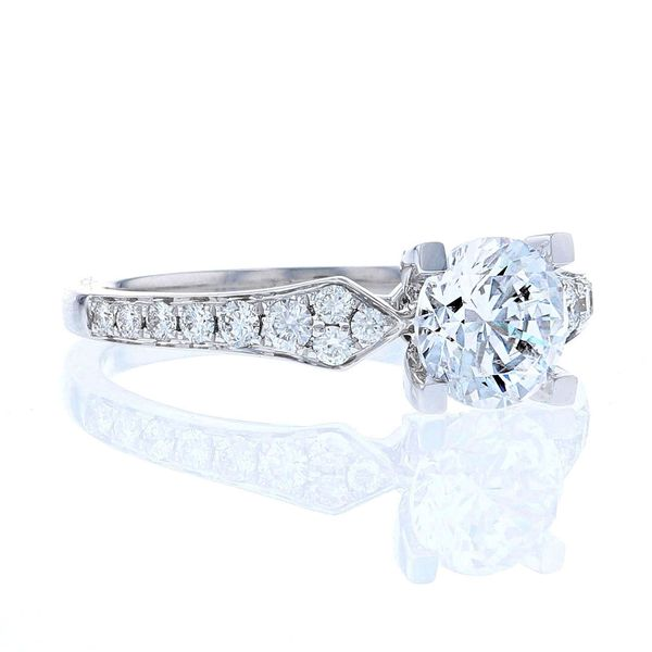 Diamond Crown Engagement Ring Image 2 Fox Fine Jewelry Ventura, CA