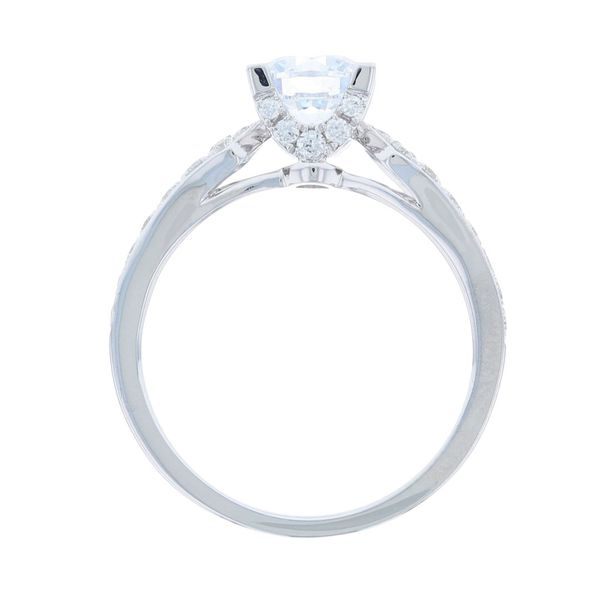 Diamond Crown Engagement Ring Image 3 Fox Fine Jewelry Ventura, CA