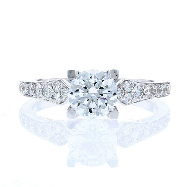 Diamond Crown Engagement Ring Fox Fine Jewelry Ventura, CA