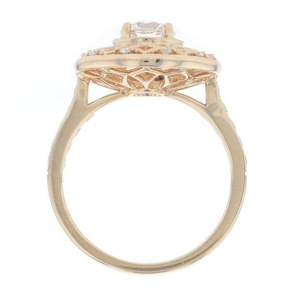 Yellow Gold Diamond Sun Engagement Ring Image 2 Fox Fine Jewelry Ventura, CA