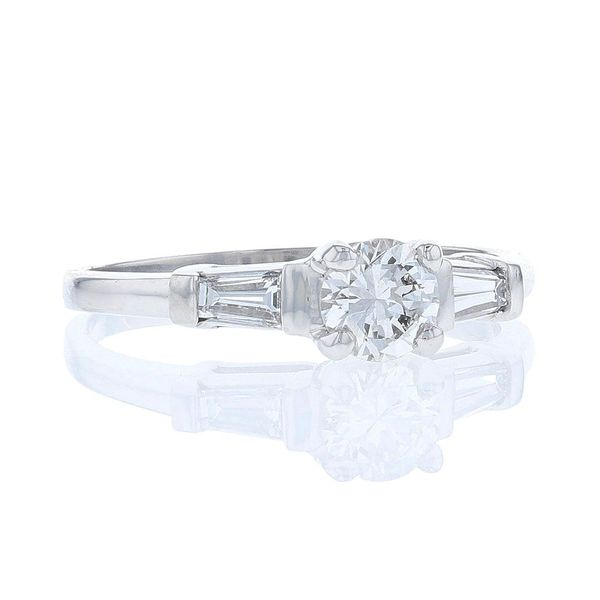 Baguette Side Diamond Engagement Ring Image 2 Fox Fine Jewelry Ventura, CA