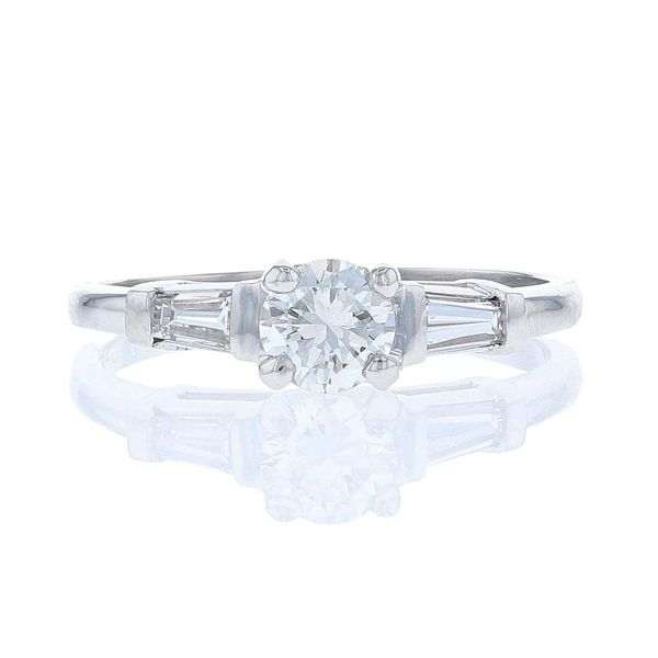 Baguette Side Diamond Engagement Ring Fox Fine Jewelry Ventura, CA