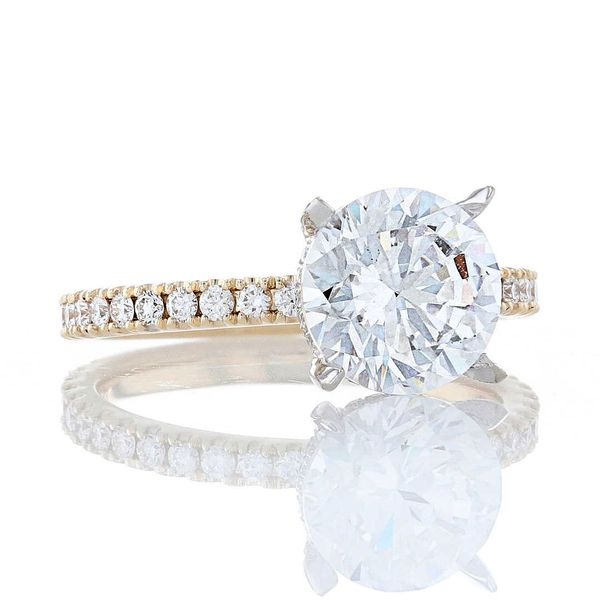 Two Tone Diamond Crown Engagement Ring Image 2 Fox Fine Jewelry Ventura, CA