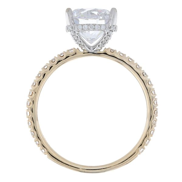 Two Tone Diamond Crown Engagement Ring Image 3 Fox Fine Jewelry Ventura, CA