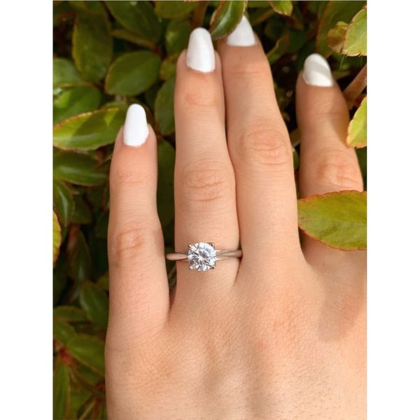 Surprise Diamond Solitaire Engagement Ring Image 3 Fox Fine Jewelry Ventura, CA