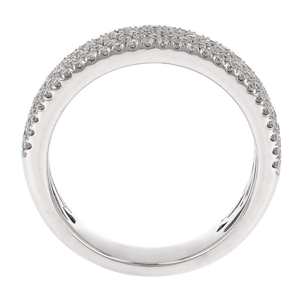 Four Row Pave Diamond Wedding Band Image 3 Fox Fine Jewelry Ventura, CA