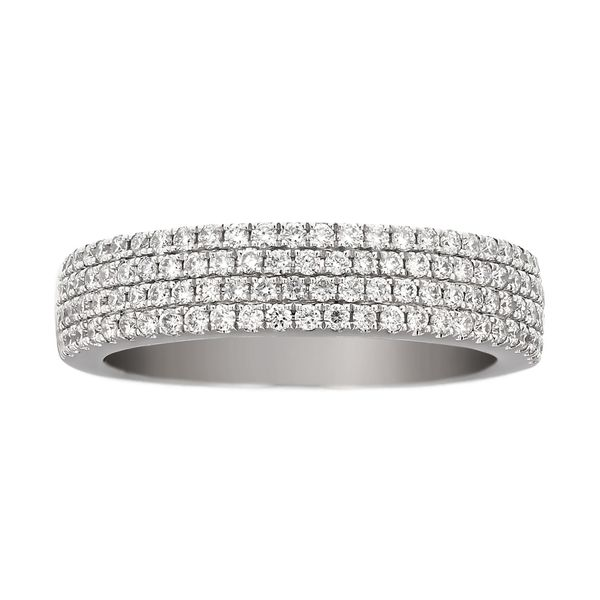 Four Row Pave Diamond Wedding Band Fox Fine Jewelry Ventura, CA