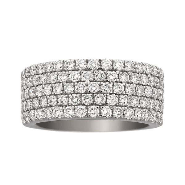Wide Five Row Pave Diamond Wedding Band Fox Fine Jewelry Ventura, CA