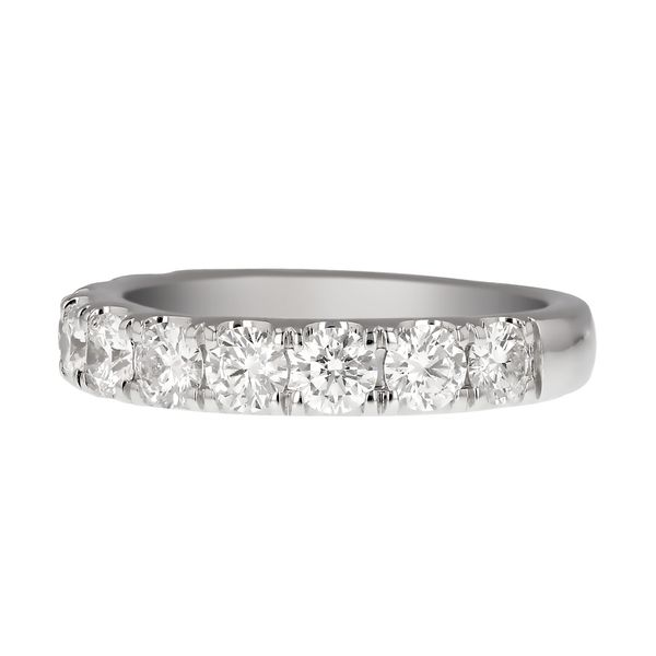 White Gold Diamond Wedding Band Image 2 Fox Fine Jewelry Ventura, CA
