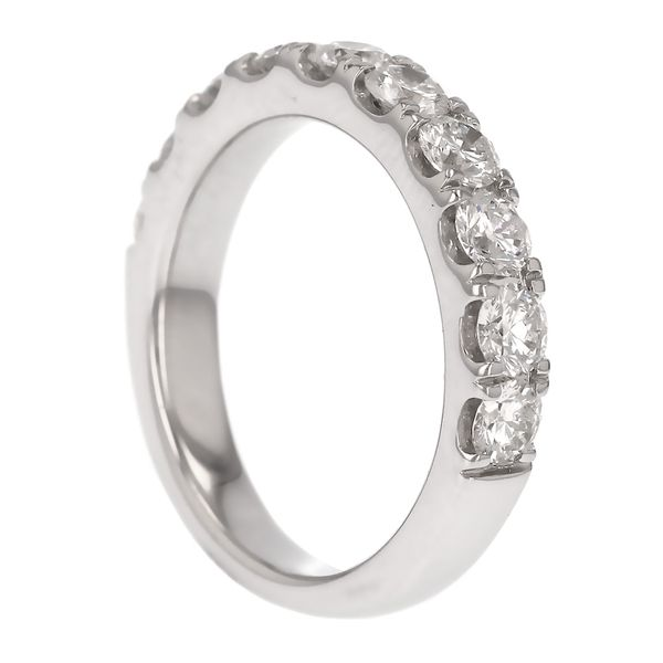White Gold Diamond Wedding Band Image 4 Fox Fine Jewelry Ventura, CA