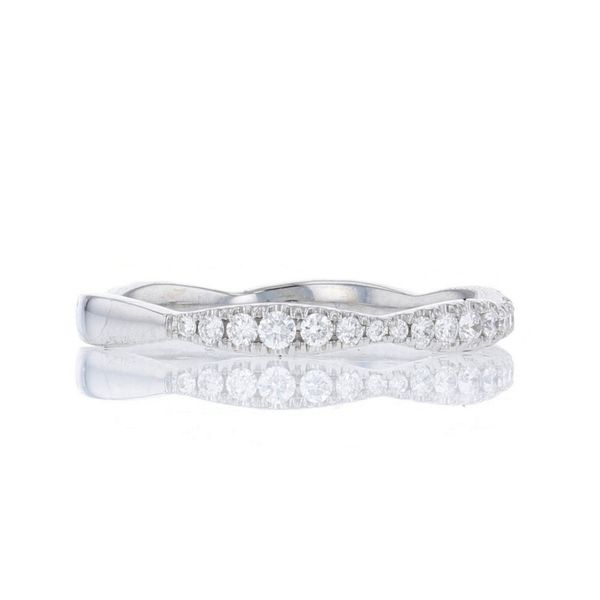 Diamond Scalloped Wedding Band Image 2 Fox Fine Jewelry Ventura, CA