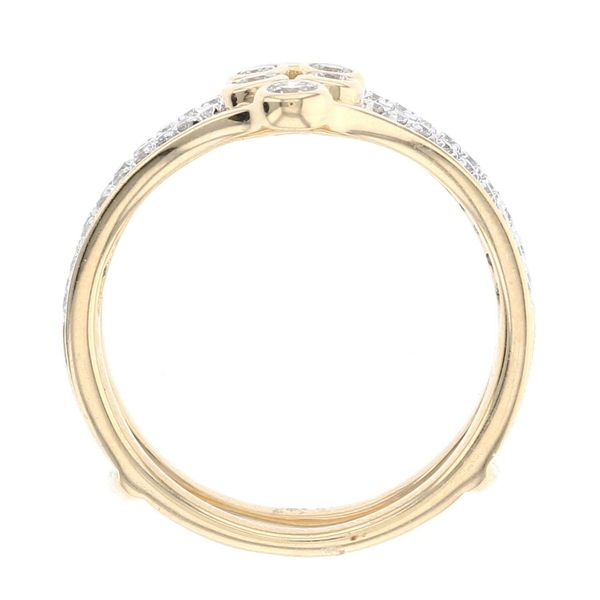 Yellow Gold Diamond Bezel Set Ring Guard Image 3 Fox Fine Jewelry Ventura, CA