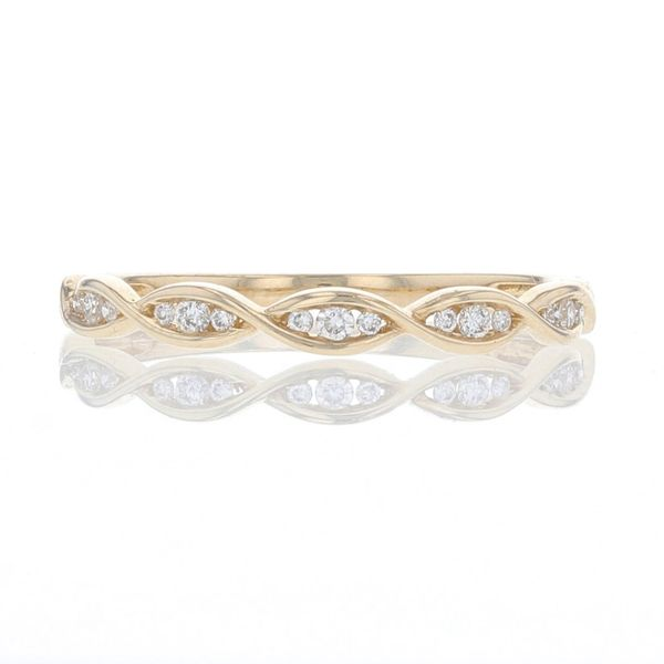 Yellow Gold Diamond Illusion Marquise Band Fox Fine Jewelry Ventura, CA