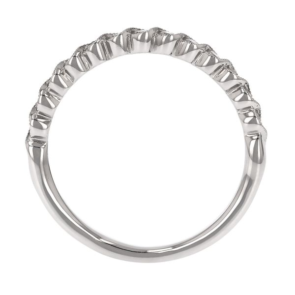Curved Bezel Set Diamond Milgrain Band Image 3 Fox Fine Jewelry Ventura, CA