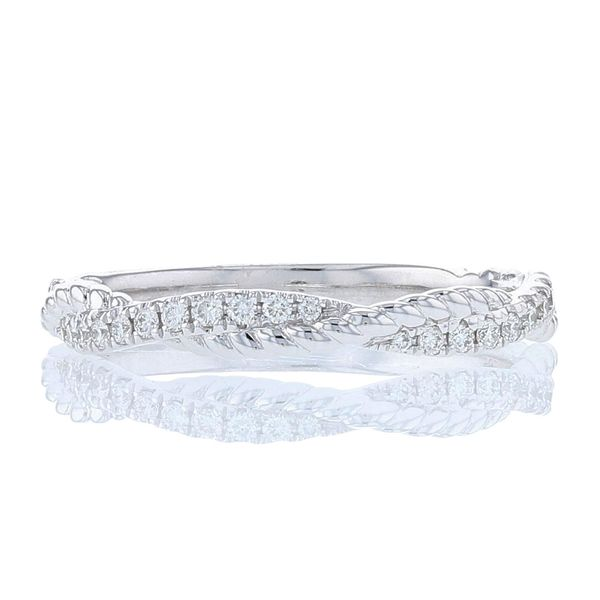Diamond Textured Twist Band Fox Fine Jewelry Ventura, CA
