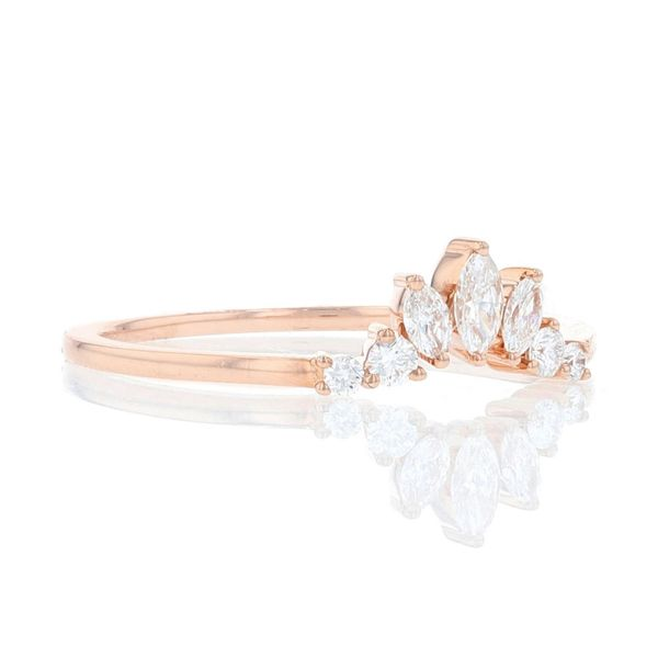 Rose Gold Diamond Marquise Contour Ring Image 2 Fox Fine Jewelry Ventura, CA