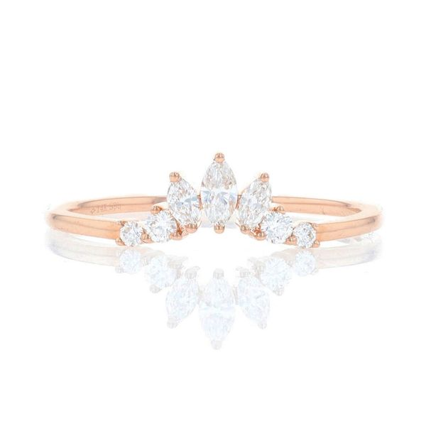 Rose Gold Diamond Marquise Contour Ring Fox Fine Jewelry Ventura, CA