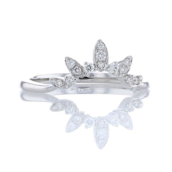 Diamond Marquise Shape Leaf Contour Band Image 2 Fox Fine Jewelry Ventura, CA