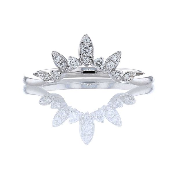 Diamond Marquise Shape Leaf Contour Band Fox Fine Jewelry Ventura, CA