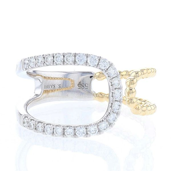 Asymmetrical Open Loop Diamond Ring Image 2 Fox Fine Jewelry Ventura, CA