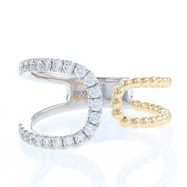 Asymmetrical Open Loop Diamond Ring Fox Fine Jewelry Ventura, CA
