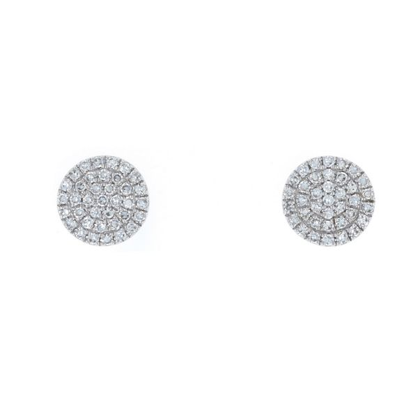 Pave Diamond Button Studs Fox Fine Jewelry Ventura, CA