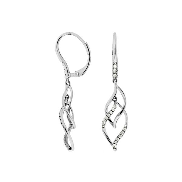Diamond Swish Dangle Earrings Fox Fine Jewelry Ventura, CA
