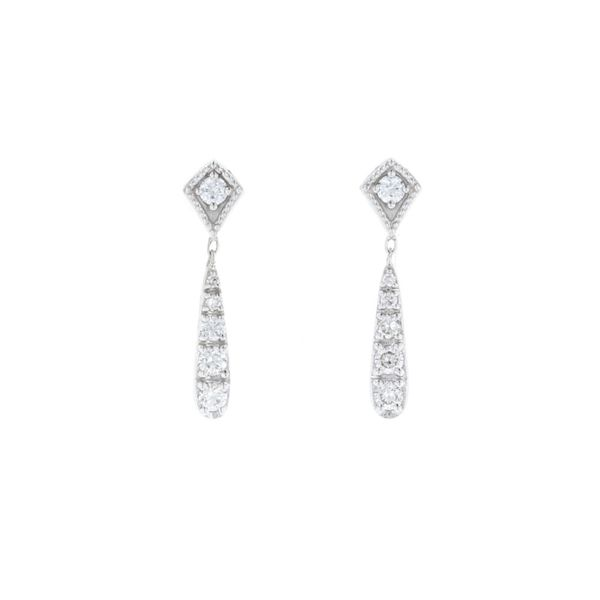 Diamond Vintage Dangle Earrings Fox Fine Jewelry Ventura, CA