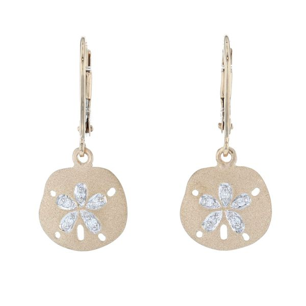 Diamond Sand Dollar Dangle Earrings Fox Fine Jewelry Ventura, CA