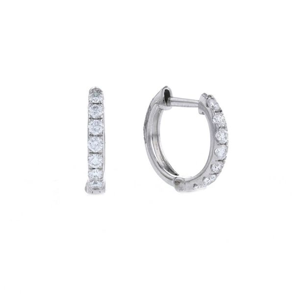 Diamond Huggie Hoop Earrings Fox Fine Jewelry Ventura, CA