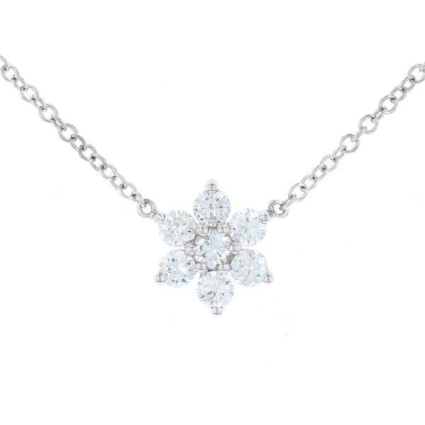 Diamond Cluster Necklace Fox Fine Jewelry Ventura, CA