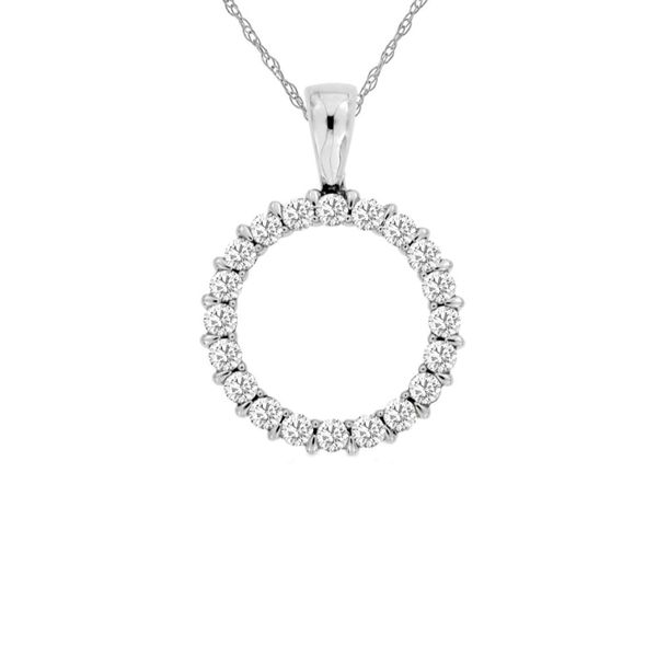 Diamond Circle Pendant Fox Fine Jewelry Ventura, CA