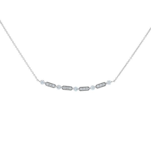 Diamond Milgrain Bar Smile Necklace Fox Fine Jewelry Ventura, CA