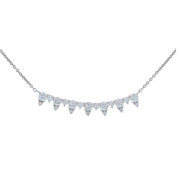 Round & Pear Diamond Smile Necklace Fox Fine Jewelry Ventura, CA