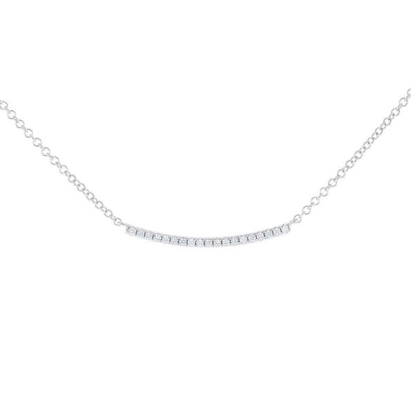 Curved Diamond Bar Necklace Fox Fine Jewelry Ventura, CA