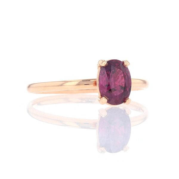 Rose Gold Oval Ruby Solitaire Ring Image 2 Fox Fine Jewelry Ventura, CA