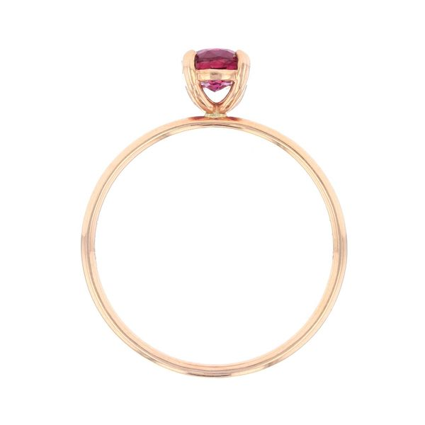 Rose Gold Oval Ruby Solitaire Ring Image 3 Fox Fine Jewelry Ventura, CA