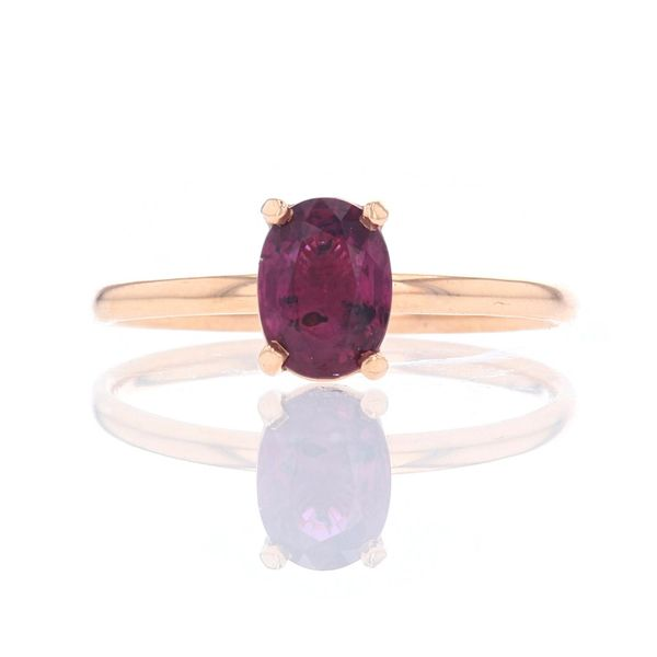 Rose Gold Oval Ruby Solitaire Ring Fox Fine Jewelry Ventura, CA