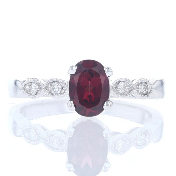 Rhodolite Garnet & Diamond Milgrain Ring Fox Fine Jewelry Ventura, CA