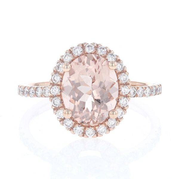 Oval Morganite & Diamond Halo Ring Fox Fine Jewelry Ventura, CA
