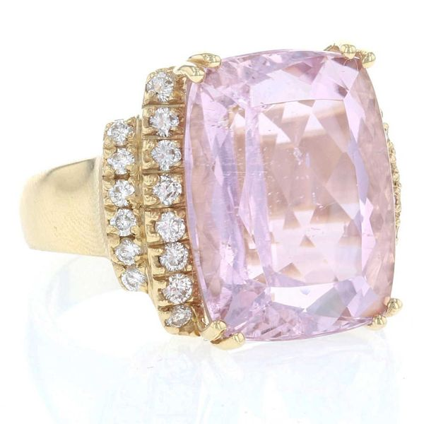 Statement Kunzite & Diamond Ring Image 2 Fox Fine Jewelry Ventura, CA