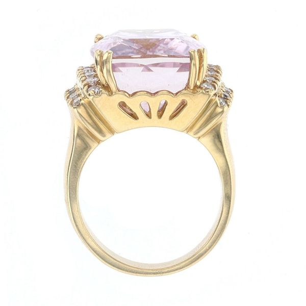 Statement Kunzite & Diamond Ring Image 3 Fox Fine Jewelry Ventura, CA