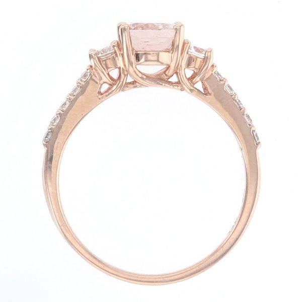 Oval Morganite & Diamond Ring Image 3 Fox Fine Jewelry Ventura, CA