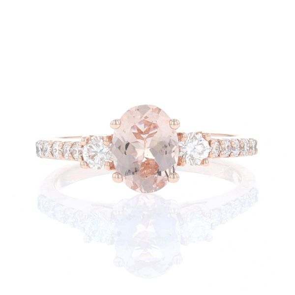 Oval Morganite & Diamond Ring Fox Fine Jewelry Ventura, CA