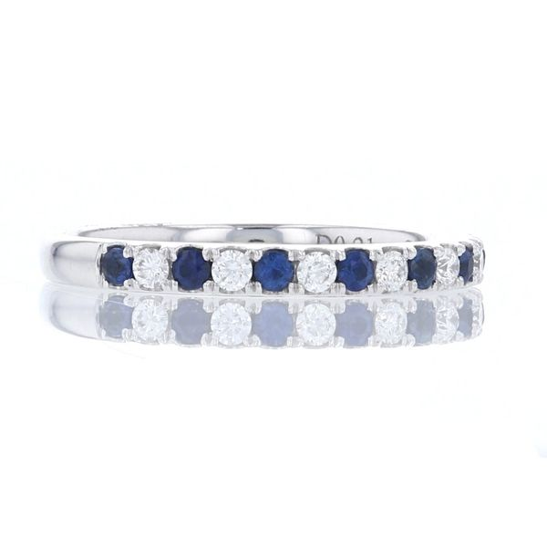 Blue Sapphire & Diamond Band Image 2 Fox Fine Jewelry Ventura, CA