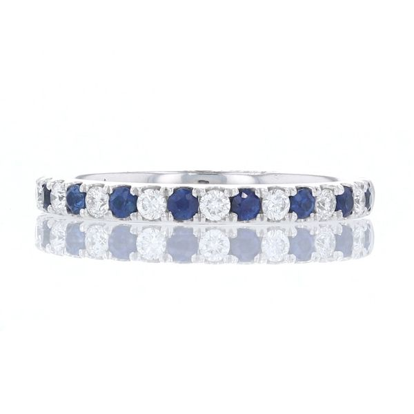 Blue Sapphire & Diamond Band Fox Fine Jewelry Ventura, CA
