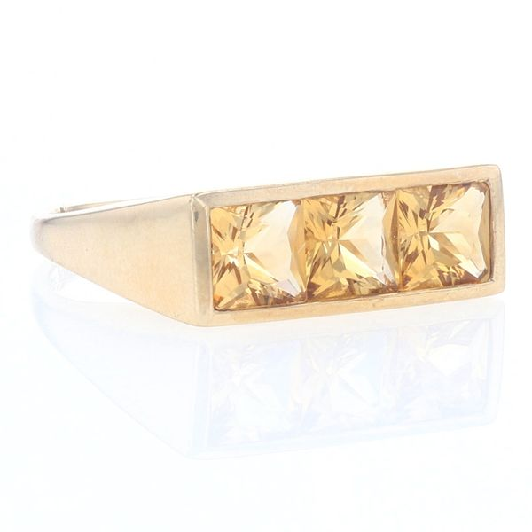 Yellow Gold Citrine Bar Ring Image 2 Fox Fine Jewelry Ventura, CA