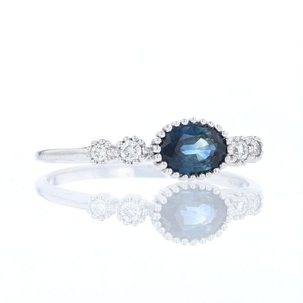 East West Oval Sapphire Ring Image 2 Fox Fine Jewelry Ventura, CA