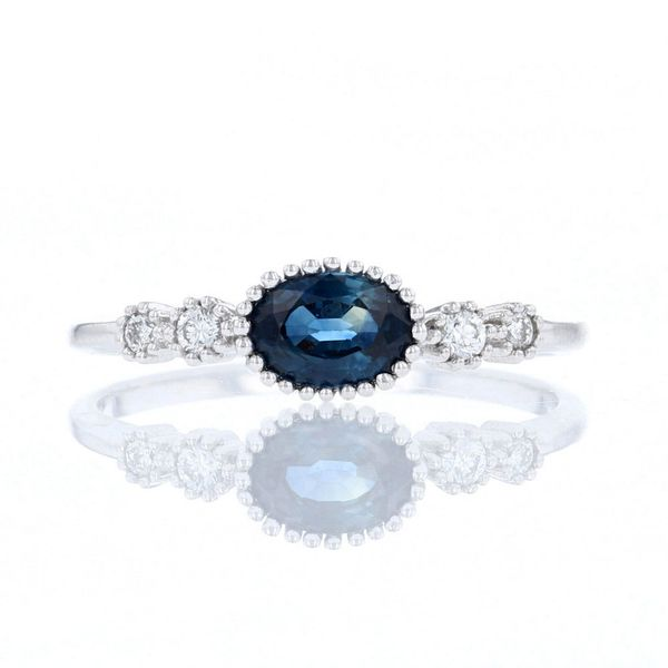 East West Oval Sapphire Ring Fox Fine Jewelry Ventura, CA