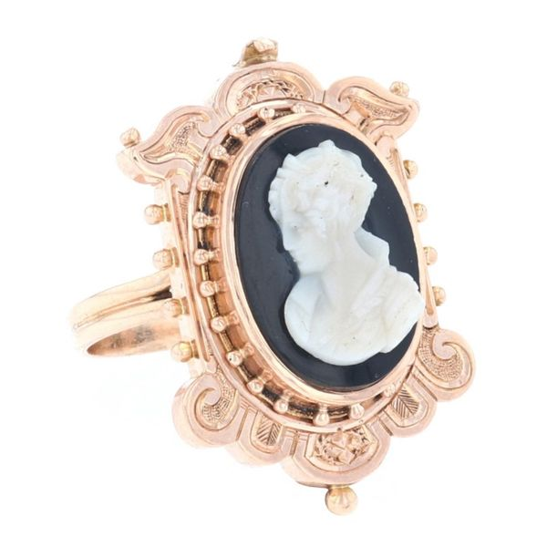Yellow Gold Vintage Cameo Ring Image 2 Fox Fine Jewelry Ventura, CA